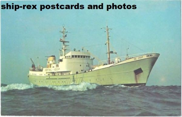 DE HOOP (1964, hospital ship) postcard